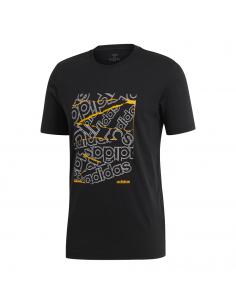Remera Bg Negro-amarillo Ei4590