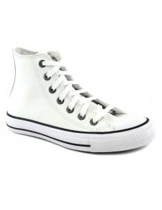 Zapatillas Converse Chuck Taylor Hi Cuero Blanco