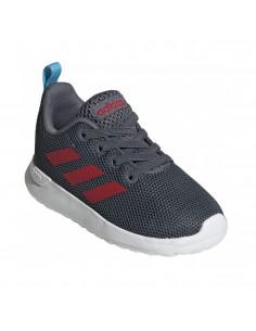 Zapatillas Adidas Lite Racer Cln I Niños Gris-rojo Eg4012